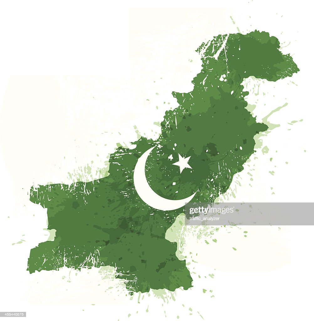 Grungy Pakistan map