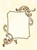 Grungy rectangular vintage sepia frame