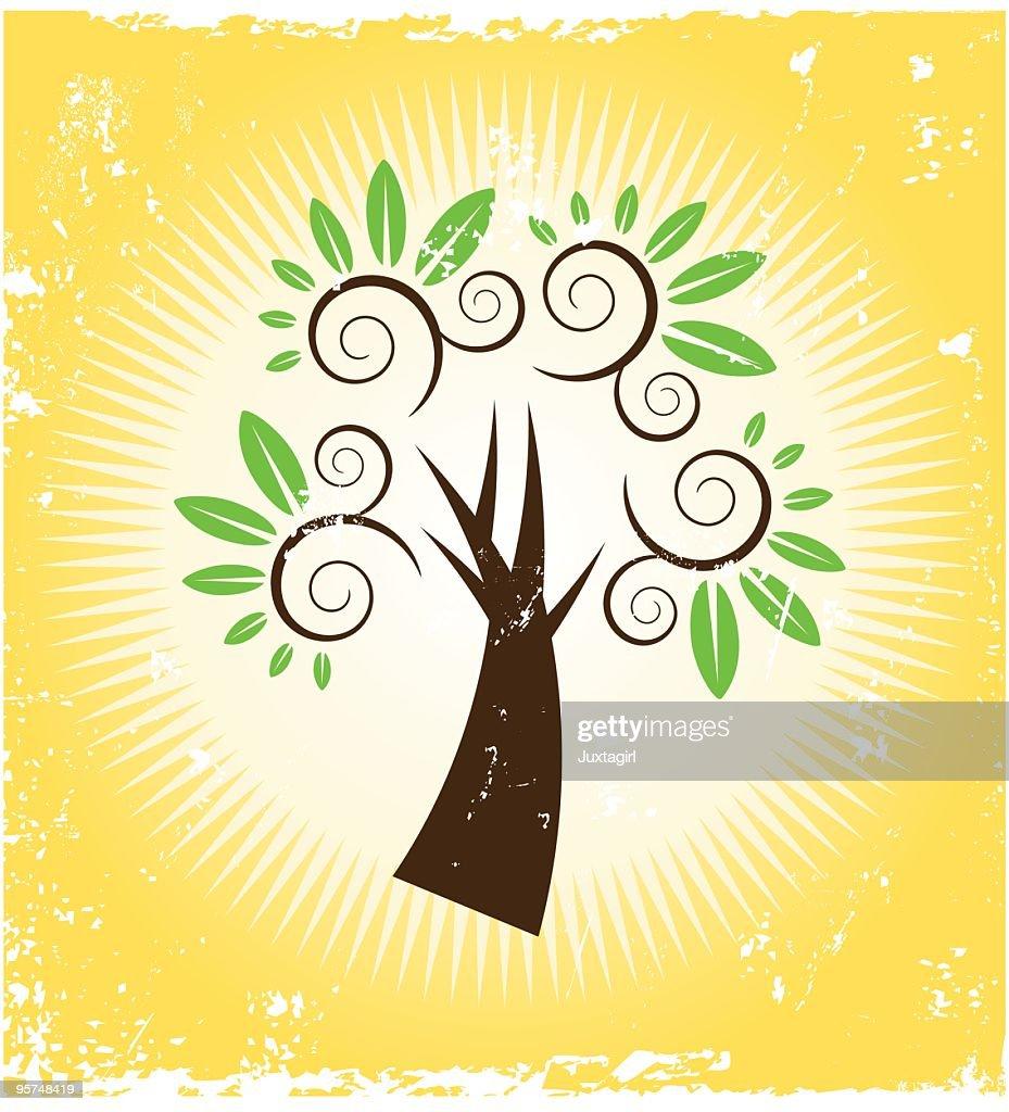 Grungy Spiral tree