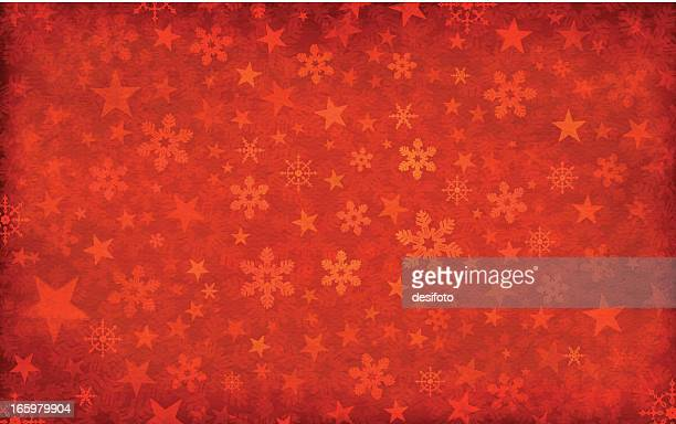 grungy vector christmas background - christmas paper stock illustrations