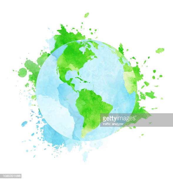 grunge aquarell globus - global stock-grafiken, -clipart, -cartoons und -symbole