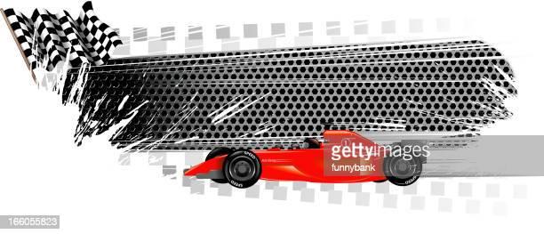 grurge racecar banners - go carting stock illustrations, clip art, cartoons, & icons