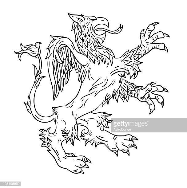 gryphon - griffin stock illustrations, clip art, cartoons, & icons