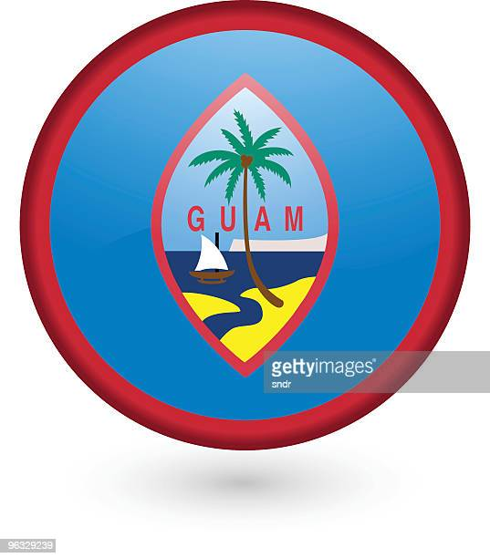 Guam flag button