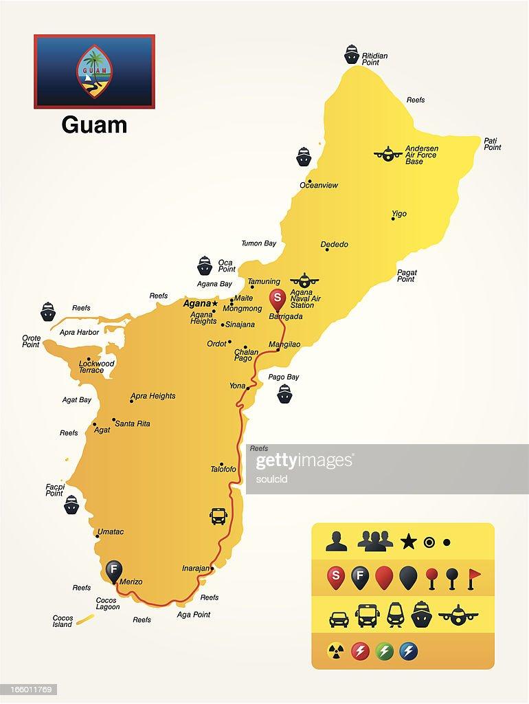 Guam : stock illustration