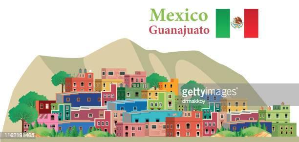 guanajuato, mexico - spire stock illustrations, clip art, cartoons, & icons