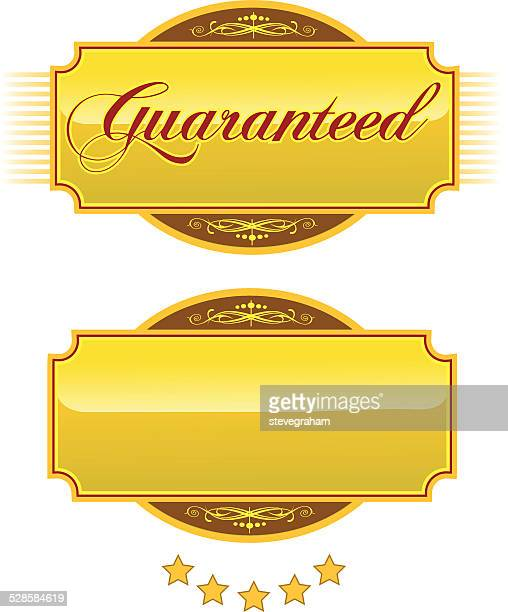 guaranteed engraved gold plaques and nameplates - nameplate stock illustrations
