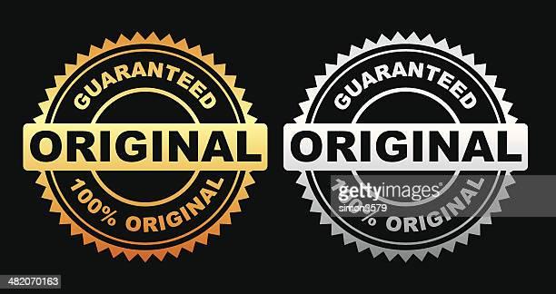 guaranteed original label - medallion stock illustrations, clip art, cartoons, & icons
