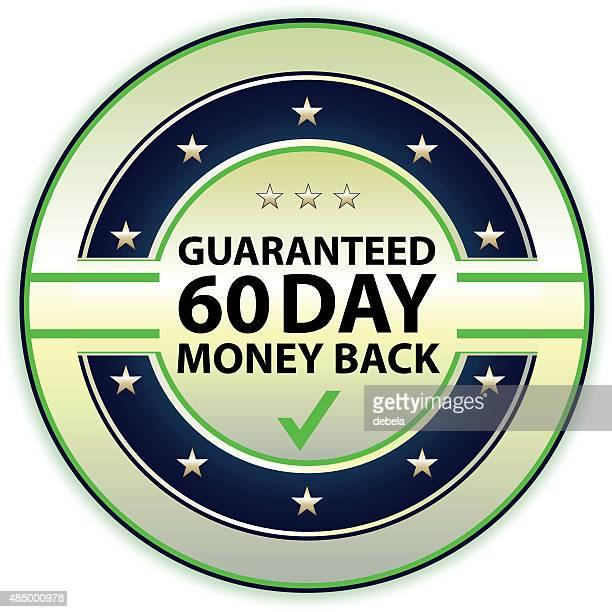 バックの保証金 60 日 - 数字の60点のイラスト素材/クリップアート素材/マンガ素材/アイコン素材