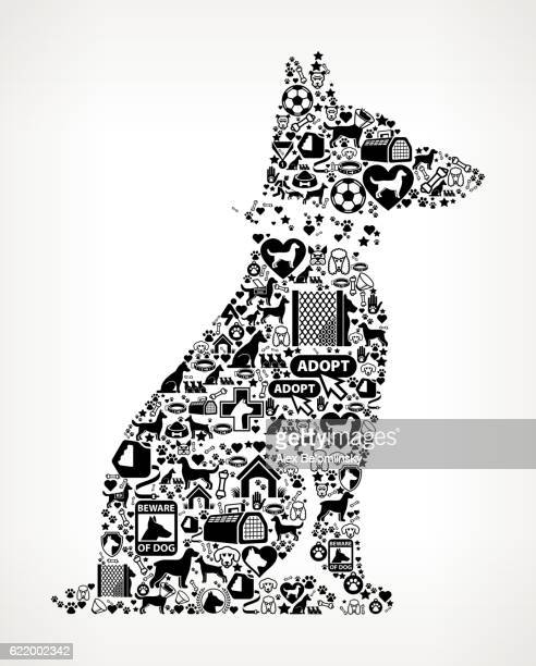 Guard Dog Dog and Canine Pet Black Icon Pattern