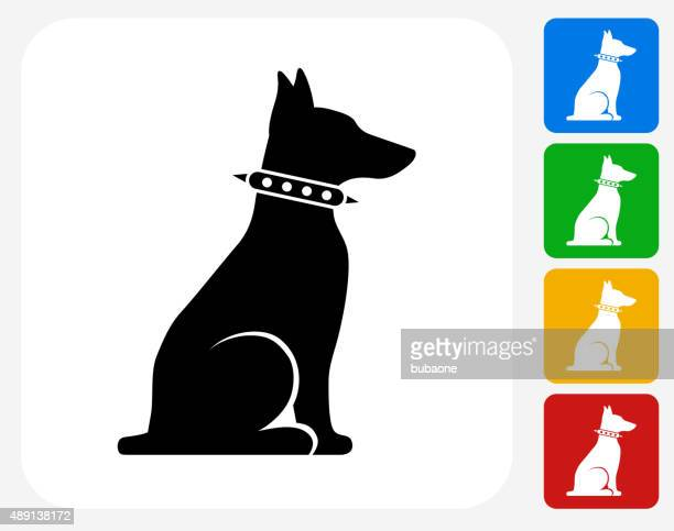 Guard Dog Icon Flat Graphic Design