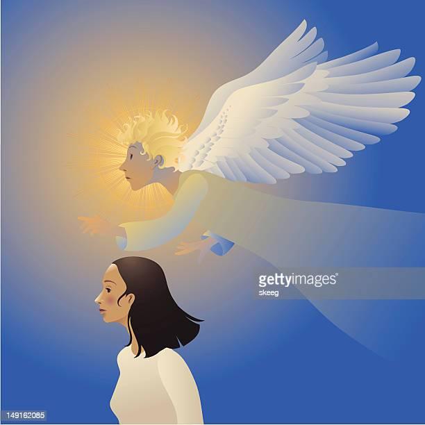 guardian angel - guru stock illustrations, clip art, cartoons, & icons