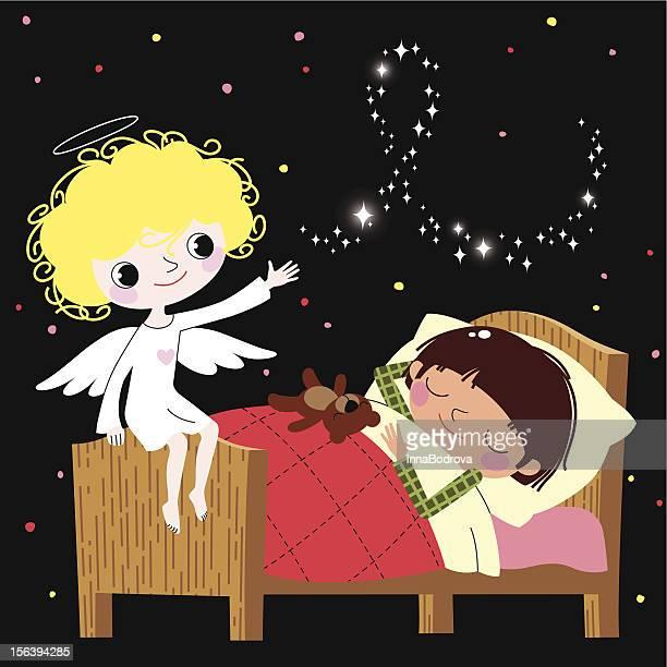guardian angel. - blanket stock illustrations, clip art, cartoons, & icons