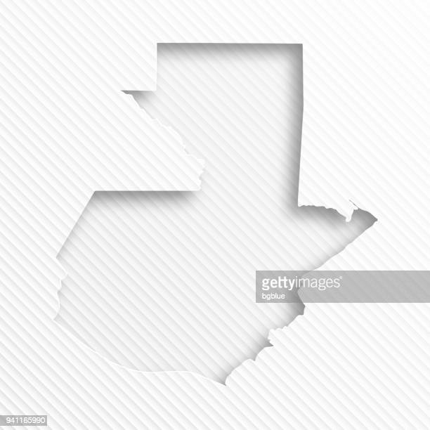 guatemala map with paper cut on abstract white background - guatemala stock illustrations, clip art, cartoons, & icons
