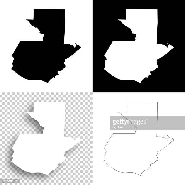 guatemala maps for design - blank, white and black backgrounds - guatemala stock illustrations, clip art, cartoons, & icons