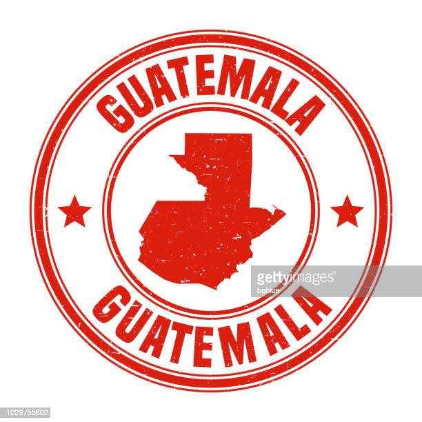 guatemala - red grunge rubber stamp with name and map - guatemala stock illustrations, clip art, cartoons, & icons