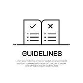 Guidelines Vector Line Icon - Simple Thin Line Icon, Premium Quality Design Element