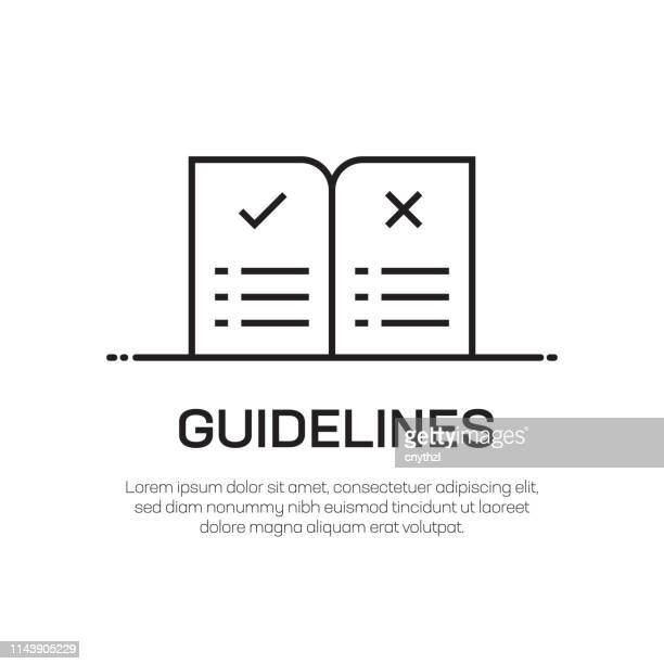 guidelines vector line icon - simple thin line icon, premium quality design element - guidance stock illustrations