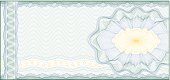 Guilloche Background for Voucher, Gift Certificate, Coupon or Banknote