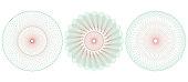 Guilloche pattern rosette. Vector illustration.