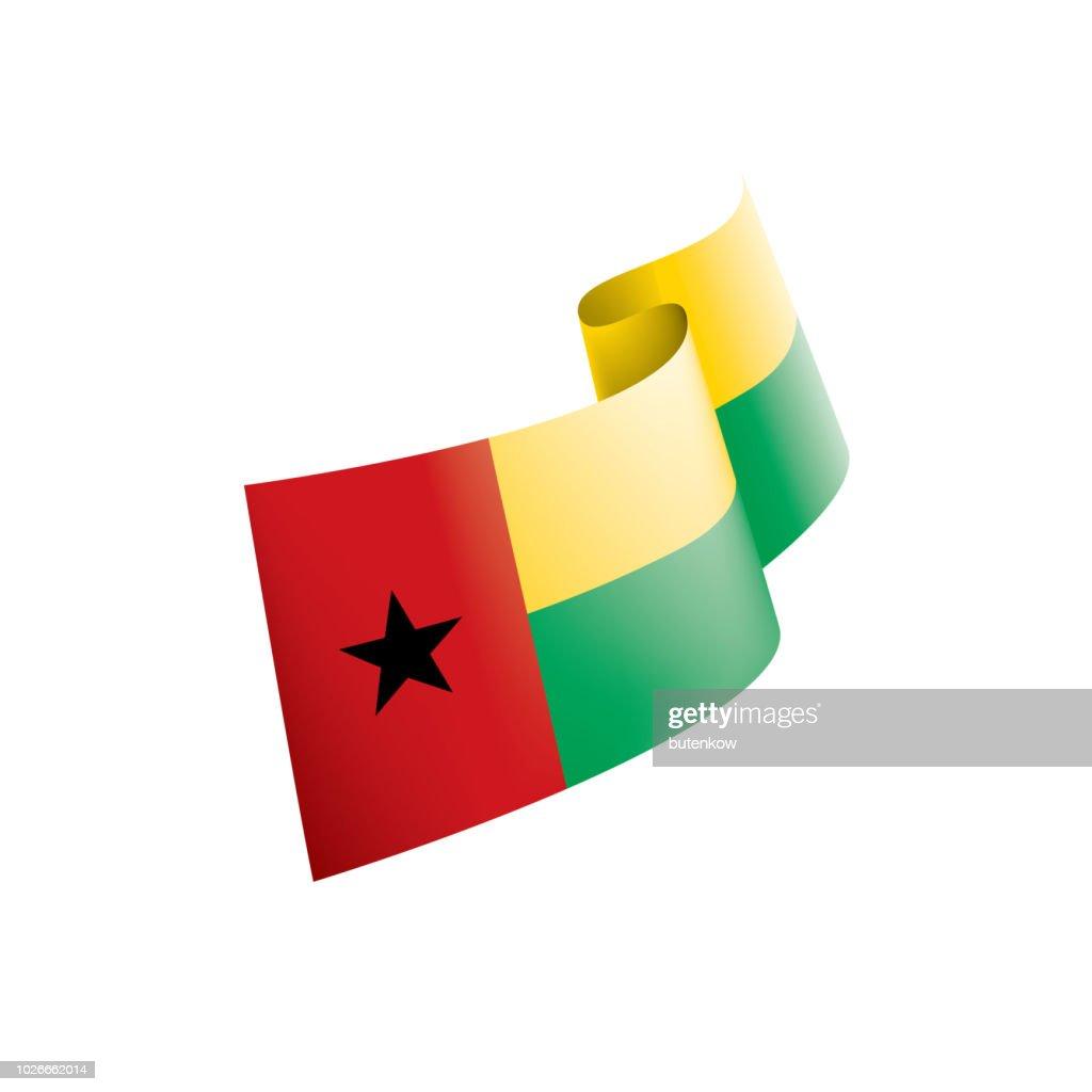 Guinea Bissau flag, vector illustration on a white background