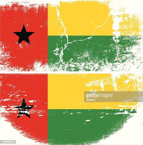 Guinea-Bissau Grunge Flagge