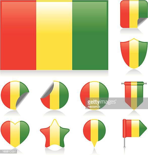 Guinea Fahne set