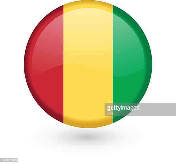 Guinea flag vector button