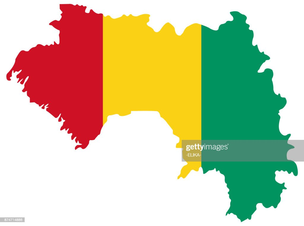 Guinea map and flag