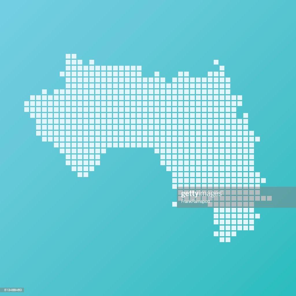 Guiné mapa de Fundo turquesa quadrado padrão : Ilustração de stock
