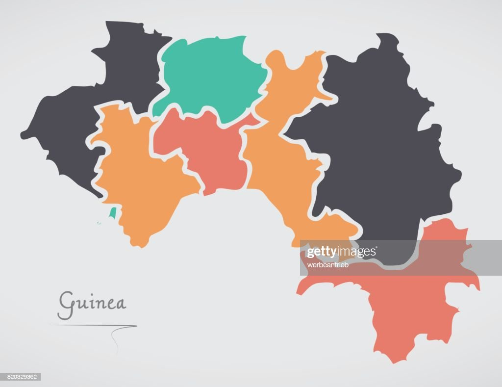 Guinea map with states and modern round shapes vector art getty images guinea map with states and modern round shapes vector art gumiabroncs Image collections
