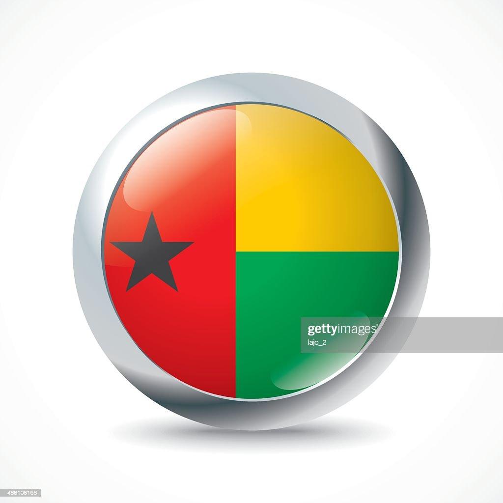 Guinea-Bissau flag button
