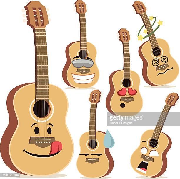 Guitar Cartoon Set A