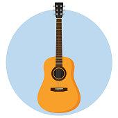 guitar Flat Design