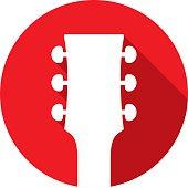 Guitar Head Icon Silhouette