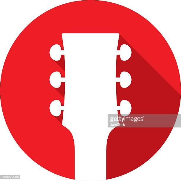 guitar head icon silhouette - jazz stock illustrations, clip art, cartoons, & icons