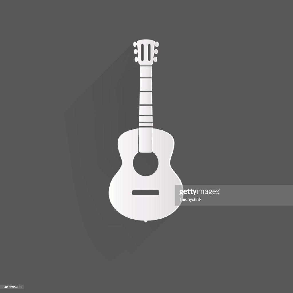 Guitar icon. Music background