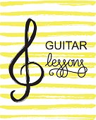 Guitar lessons icon.