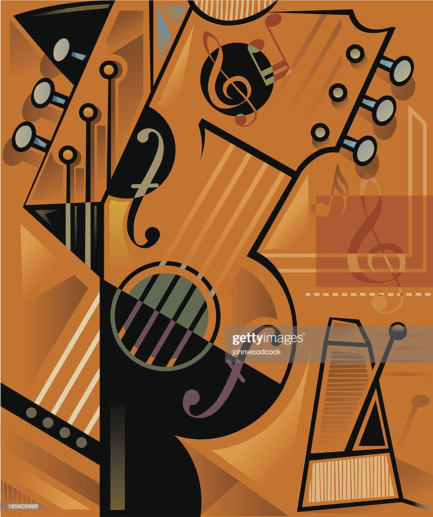 Guitar music abstract