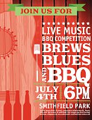 Guitar Music Barbecue Event Invitation Template