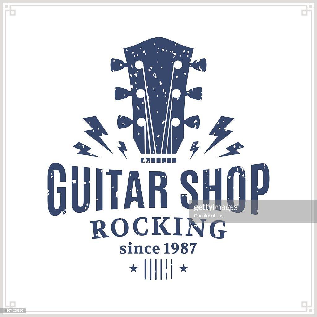 Guitar Shop Label