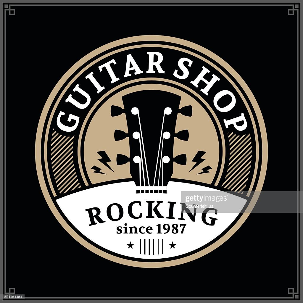 Guitar Shop Label
