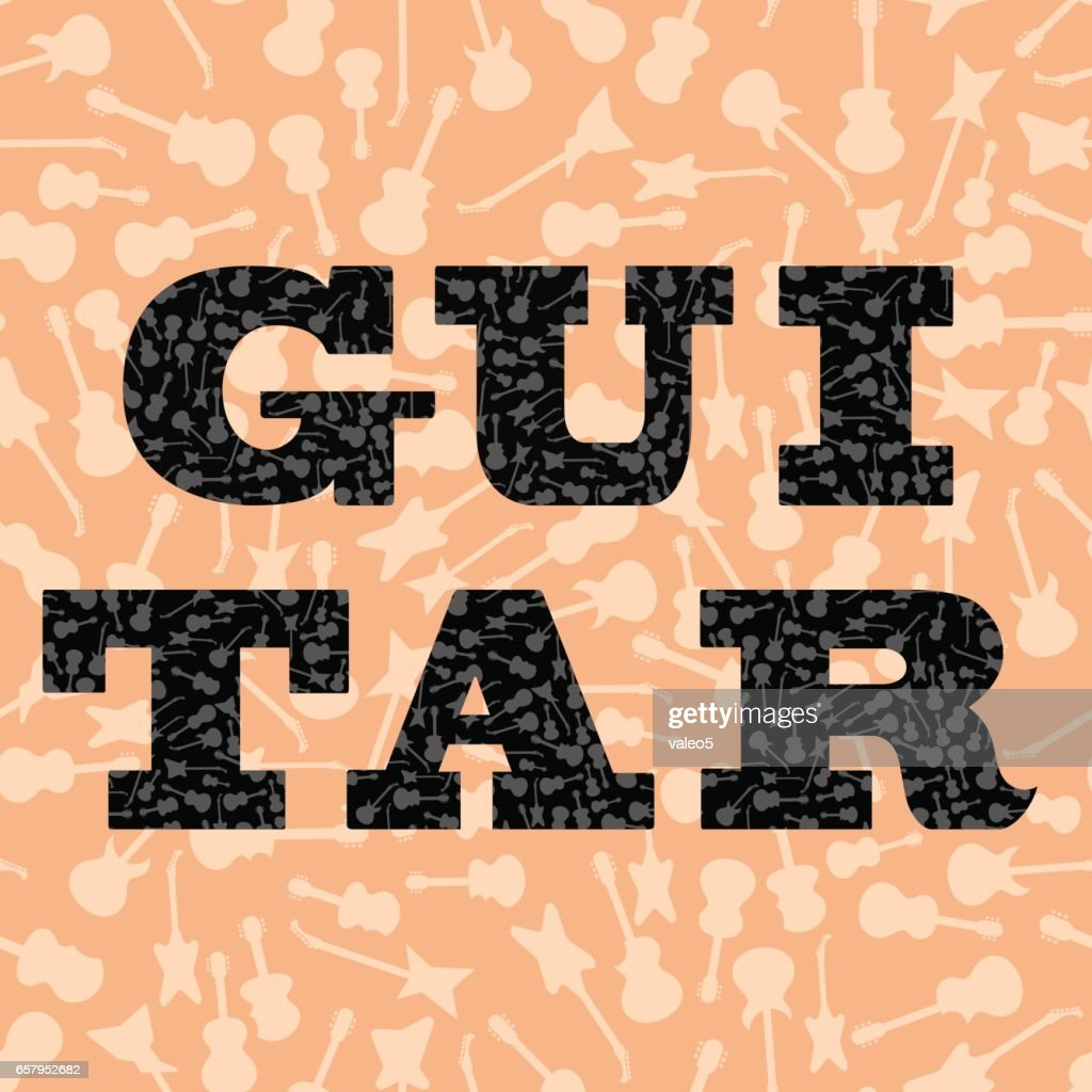 Guitar Silhouettes Seamless Pattern