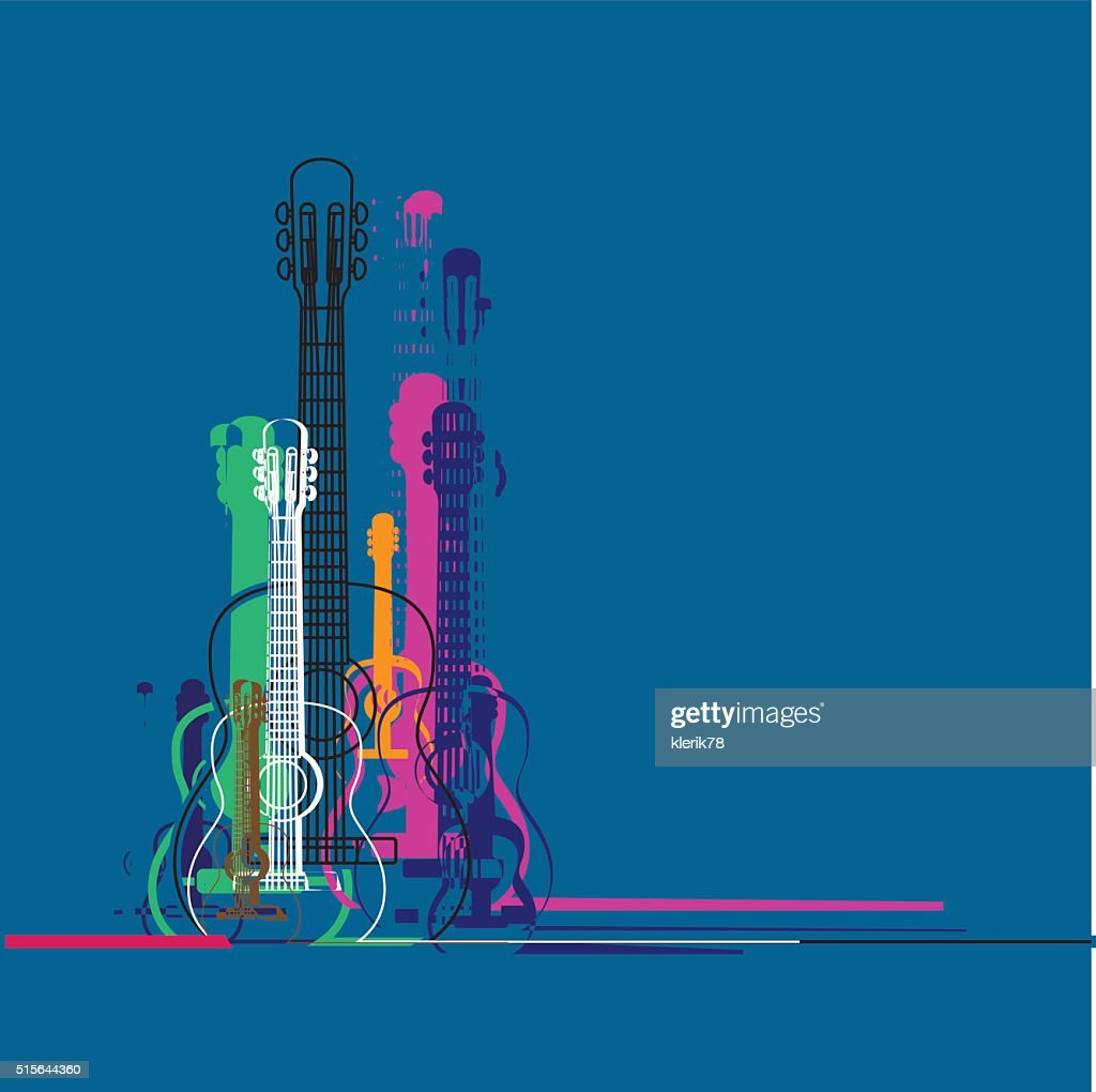 Guitars silhouette
