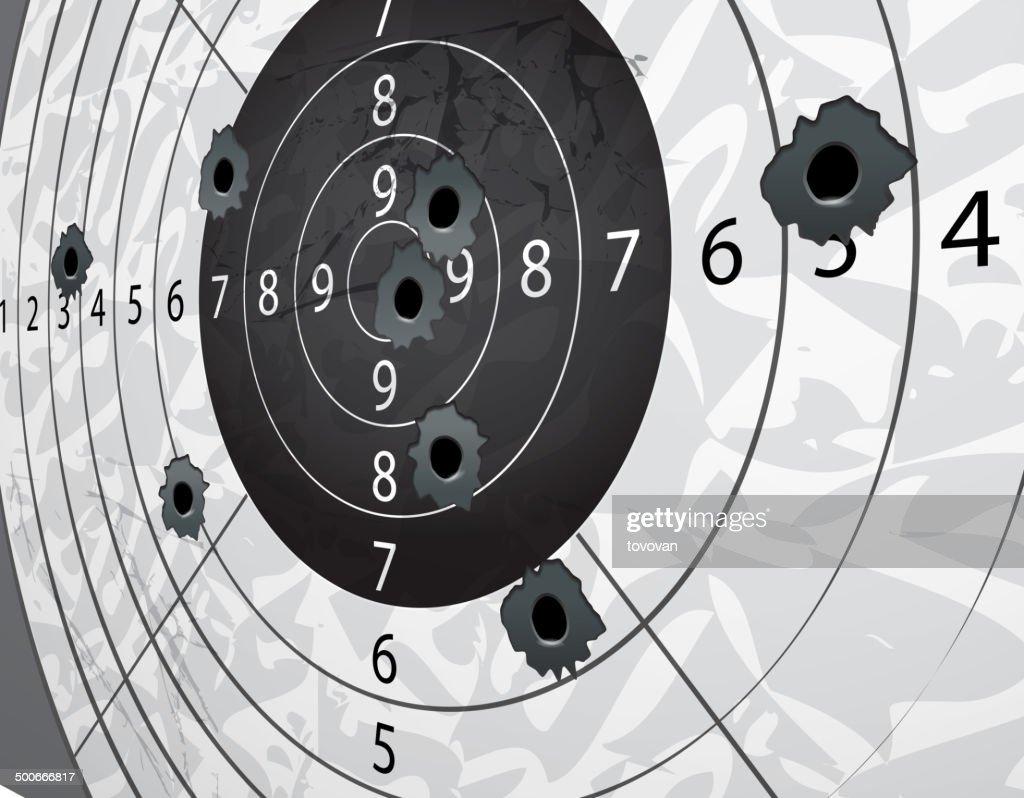 Gun bullet`s holes