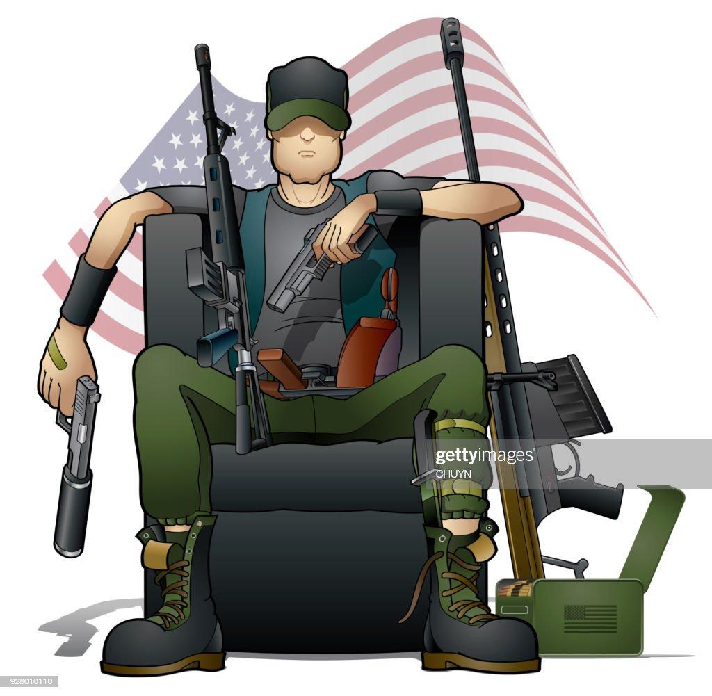 Pistola de control : Ilustración de stock
