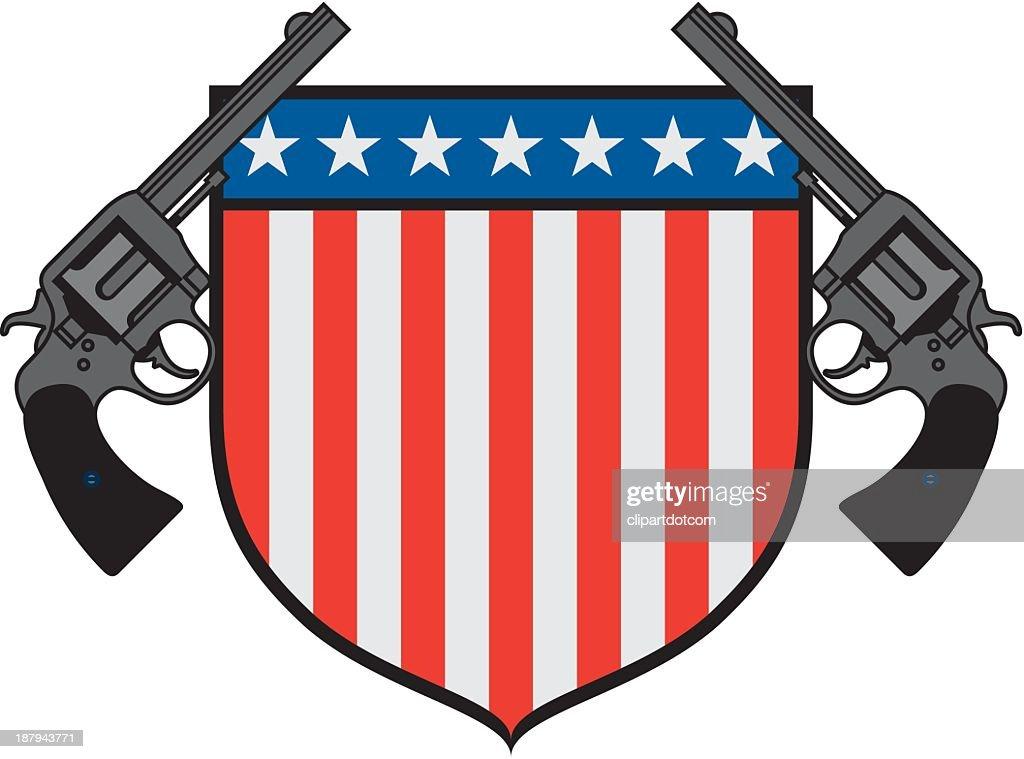 USA Gun Emblem