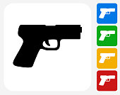 Gun Icon Flat Graphic Design