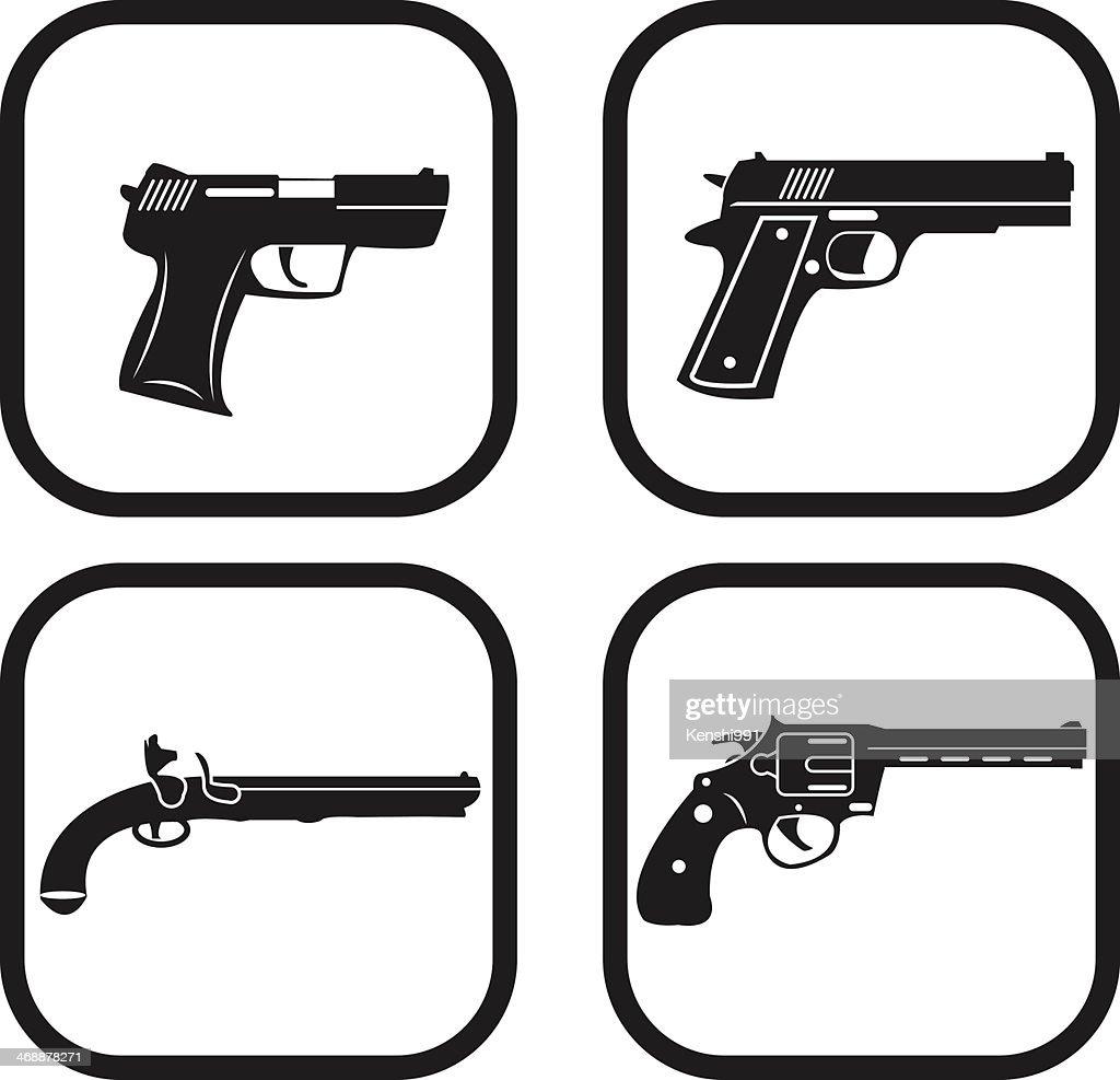 Gun icon - four variations