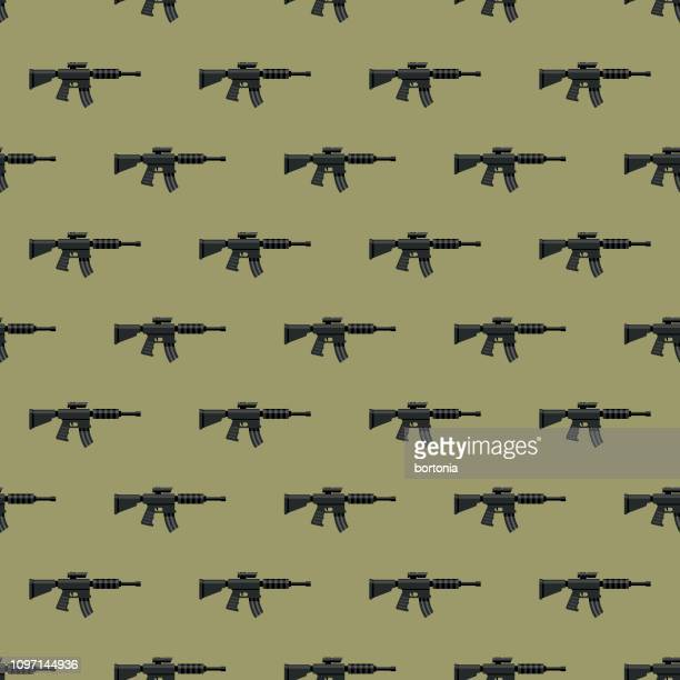 Gun Seamless Military Pattern